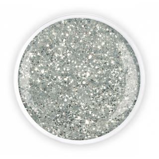 "Цветной глиммер-гель ""Сильвер Гробб"" (Silber Grob glimmer), 5 г/4.5 мл"