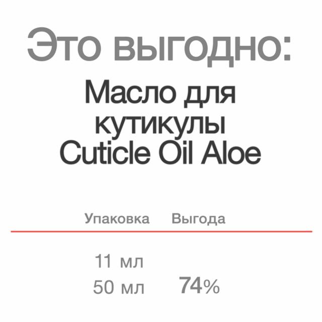Cuticle Oil Aloe, 11 ml