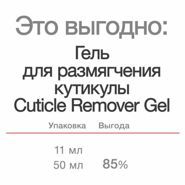 Cuticle Remover Gel, 50 ml