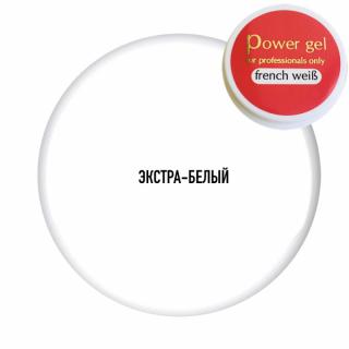 """Гель Повер """"Френч Вайс"""" (Power Gel French Weiß), 20 г/18 мл"""